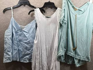 lot of 3 Womens Clothes   Takara Top Size Xl  Miss Chievous Women s Top Size Xl  Copper Key Women s Top Size Xl