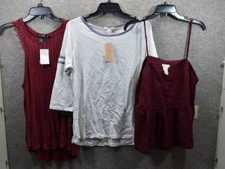 lot of 3 Womens Clothes   Miss Chievous Top Size Xl  Copper Key Women s Top Size Xl  Miss Chievous Women s Top Size Xl