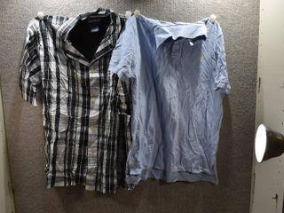 lot of 2 New w  Tags Mens Clothes   Ralph lauren Dress Shirt Size l  Ralph lauren Polo Size l