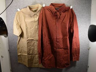 lot of 2 New w  Tags Big   Tall Mens Clothes   Roundtree   Yorke Mens Dress Shirt Size XlT  Foundry Mens Dress Shirt Size XlT