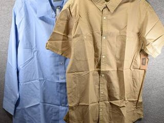 lot of 2 New w  Tags Big   Tall Mens Clothes   Foundry Mens Dress Shirt Size XlT  Foundry Mens Dress Shirt Size 35 36