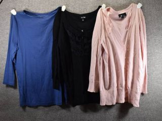 lot of 3 Womens Clothes   APT 9 Women s Sweater Size S  AB Studio Women s Sweater Size S  Christopher Banks Women s Shirt Size S