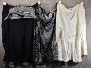 lot of 3 Womens Clothes   Peter Nygard Women s Sweater Size S  Notations Women s Sweater Size S  Worthington Women s Shirt Size S