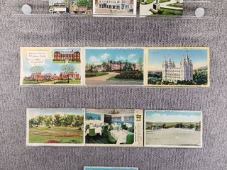 lot of 10 Vintage Postcards   Utah  Tennessee  New York Pennsylvania   Postmark 1947  1936 Historical Buildings