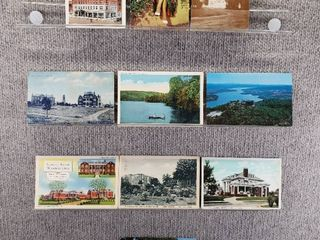 lot of 10 Vintage Postcards   Vermont  Pennsylvania  New York   Texas   Postmark 1938  1926  1952 Historical
