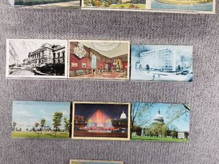 lot of 10 Vintage Postcards   Washington DC   Postmark 1957  1949 Congress   Includes Real Picture Postcard s