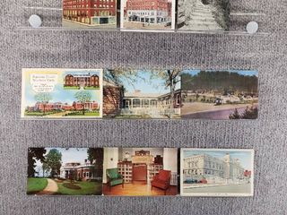 lot of 10 Vintage Postcards   Pennsylvania  New York  Virginia   Postmark 1943  1951