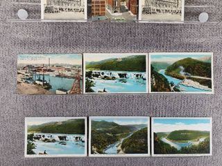 lot of 10 Vintage Postcards   Washington   W Virginia   Postmark 1949 Waterways   landmarks