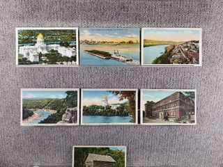 lot of 10 Vintage Postcards   W Virginia  Tennessee   Historical landmarks