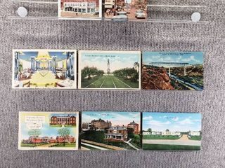 lot of 10 Vintage Postcards   Wisconsin  New York Pennsylvania   Texas   Postmark 1939  1944  1950