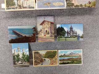 lot of 10 Vintage Postcards   California   Postmark 1960  1946  1910 Desert  SF Bridge   Buildings