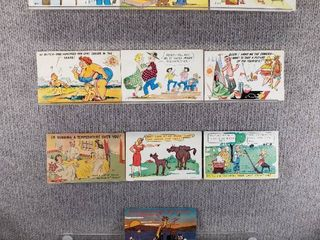 lot of 10 Vintage Postcards   Funny   Comical   Postmarks 1974  1955  1953