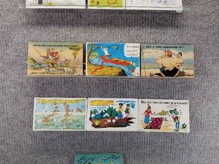 lot of 10 Vintage Postcards   Funny   Comical   Postmarks 1956  1960  1953