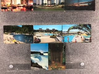 lot of 10 Vintage Postcards   California   Postmark 1962 Beaches  Church   Waters