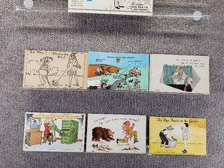 lot of 10 Vintage Postcards   Funny   Comical   Postmarks 1956  1952  1954
