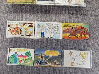 lot of 10 Vintage Postcards   Funny   Comical   Postmarks 1962  1963  1952