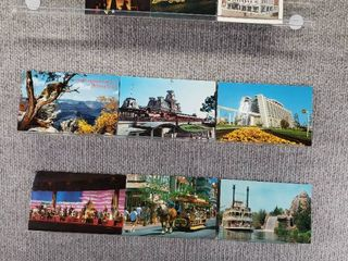 lot of 10 Vintage Postcards   Disney  Pennsylvania   New York   Postmark 1974