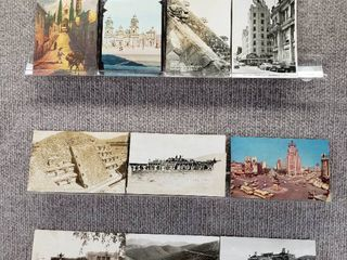 lot of 10 Vintage Postcards   Mexico   Postmark 1944   Includes Real Picture Postcard s
