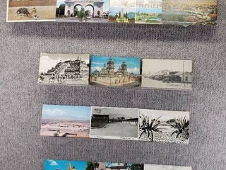 lot of 13 Vintage Postcards   Mexico   Postmark 1981  1976   Includes Real Picture Postcard s