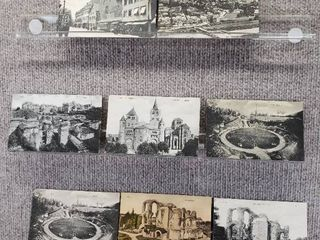 lot of 7 Vintage Postcards   Foreign Churches   Monuments   Includes Real Picture Postcard s