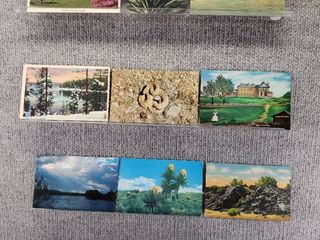 lot of 10 Vintage Postcards   landscapes   Postmarks 1963  1960