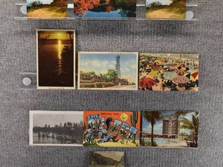 lot of 10 Vintage Postcards   landscapes   Postmarks 1975  1958   Includes Real Picture Postcard s