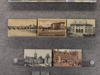 lot of 10 Vintage Postcards   Foreign Monuments   Includes Real Picture Postcard s
