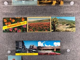 lot of 10 Vintage Postcards   California   Postmark 1960  1963 1970 Scenic Redwood landscapes City   Bay