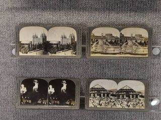 lot of 7 Stereograph Cards   California  Utah  Washington DC   Temples  Monuments   Keystone View Company