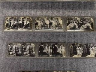 lot of 11 Stereograph Cards   Wedding   People   Keystone View Company