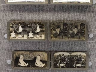 lot of 7 Stereograph Cards   Farming   Animals   People   Keystone View Company