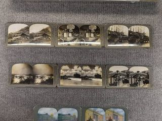 lot of 10 Stereograph Cards   Italy  Sweden  England  Germany   Palace  Church   Keystone View Company