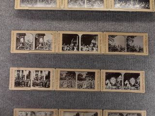 lot of 12 Stereograph Cards   Cleveland  Ohio   Church   Religion   Miller View Company