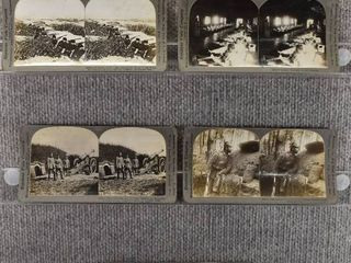 lot of 5 Stereograph Cards   European War   Soldiers   Trenches   Keystone View Company