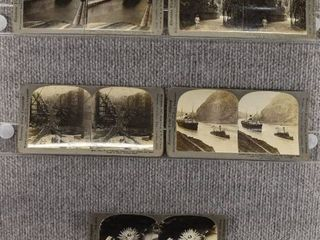 lot of 5 Stereograph Cards   South America   Boats   Canals   Keystone View Company
