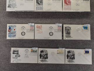 lot of 41 Vintage First Day Issue Stamps   American Credo Series   State of Flags   1960  1976  1993