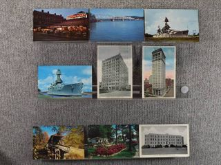 lot of 9 Vintage Postcards   N Carolina  Mississippi  Florida   Bridges  Cafe  Ships