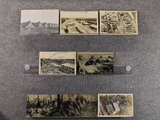 lot of 8 Vintage Postcards   France War   Postmark 1922  1917 Bases   Troops