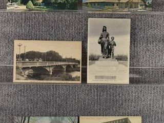 lot of 6 Vintage Postcards   Kansas   Oklahoma   Postmark 1922  1908 Schools   Hotels