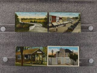 lot of 7 Vintage Postcards   Missouri   Postmark 1925 Main Street   Countryside