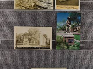 lot of 5 Vintage Postcards   Dodge City Kansas   Monuments   post Office   Includes Real Picture Postcard s s