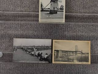 lot of 5 Vintage Postcards   Michigan   Postmark 1952 Bridges and Sea   Includes Real Picture Postcard s s