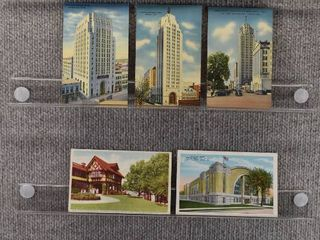 lot of 8 Vintage Postcards   Michigan   Battlecreek  Monuments