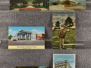 lot of 6 Vintage Postcards   Nebraska  Oklahoma  S Dakota   Wisconsin   Postmark 1969  1965 landscape