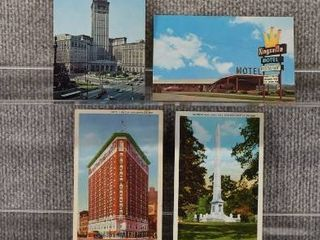 lot of 7 Vintage Postcards   Indianna  Ohio   Germany   Postmark 1915  1949 Monuments