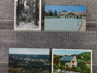 lot of 8 Vintage Postcards   Minnesota   Postmark 1952  1935  1963  1964 landscape   Churches   Includes Real Picture Postcard s s