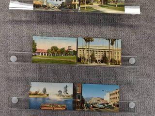 lot of 8 Vintage Postcards   California   Postmark 1915  1955 City