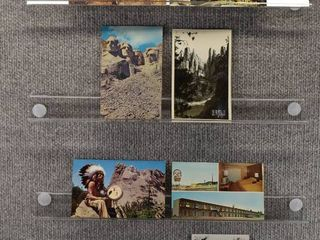lot of 7 Vintage Postcards   Mount Rushmore   Postmark 1953  1971  1958 Monuments   Includes Real Picture Postcard s s