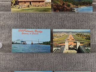 lot of 6 Vintage Postcards   lakes   Postmark 1968
