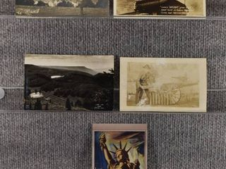 lot of 5 Vintage Postcards   Wisconsin   Trains   Monuments   Includes Real Picture Postcard s s